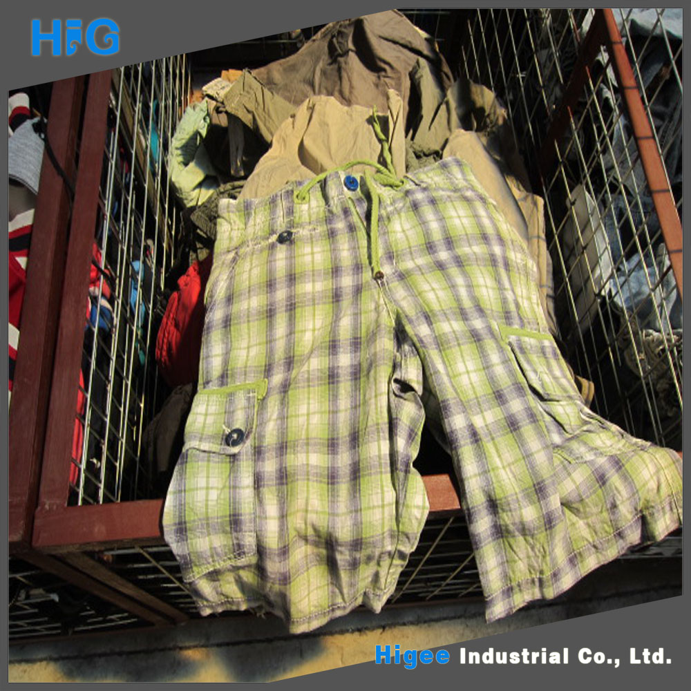 HIG brand mixed cotton used clothes in houston used clothing wholesale