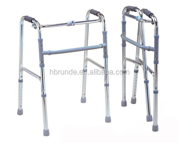 Aluminum Folding Walker With Wheel For Disabled People