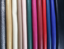 0.6mm~2.0mm PU litchi leather for Sofa, car seat, making SAFETY SHOES.