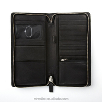 RFID Blocking Zip Around Travel Wallet