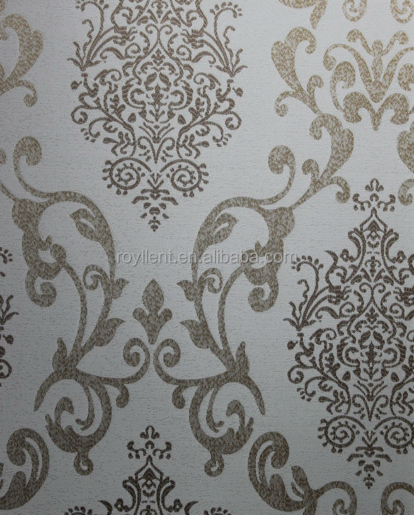 latest luxurious design interior wall fabric /wallpaper