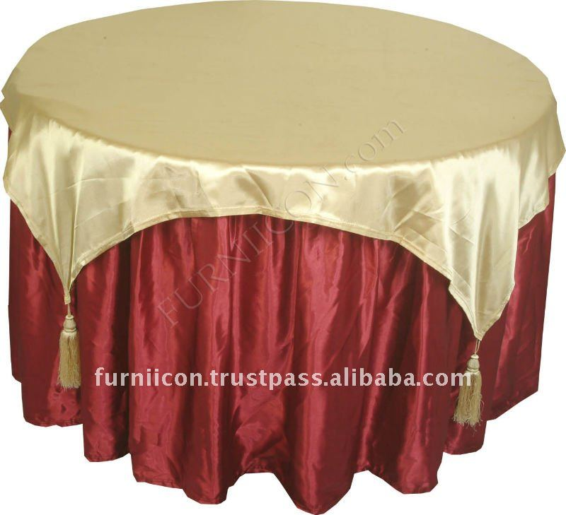 Jacquard round table cloth and top
