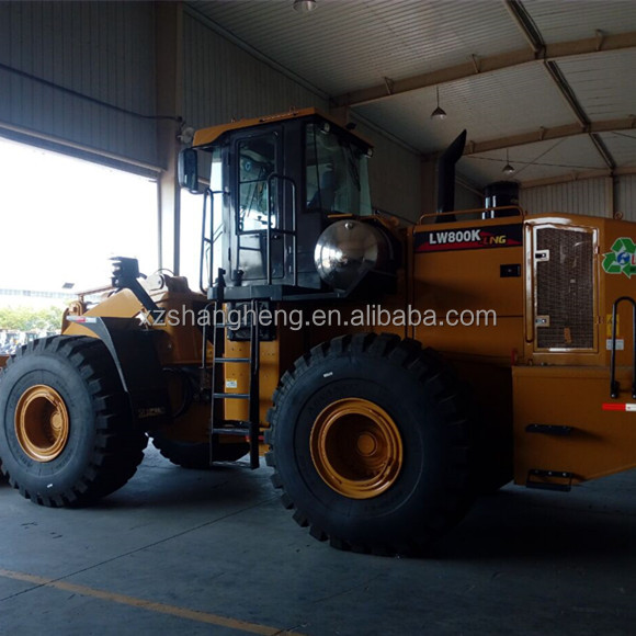 China brand XCMG LW800K 8 Ton LNG Wheel Loader with 4.5 CBM Bucket