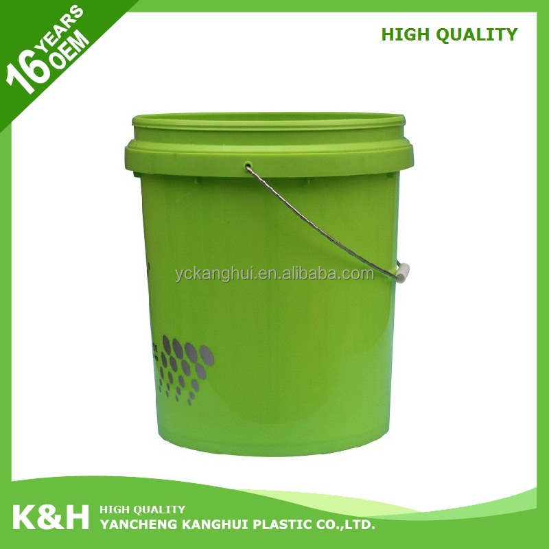 Multifunctional 5 gallon plastic pail wholesale 5 gallon white plastic buckets with lid made in China