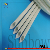 SUNBOW Black Silicone Coated Fiberglass Sleeving For Wire Insulation