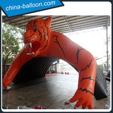 Giant Inflatable animal Tunnels/ Inflatable tiger huge Tunnels / arch for event