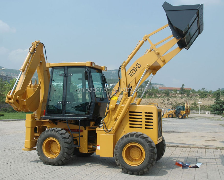 Hot sale mini backhoe loader YN870 1.2cbm bucket capacity