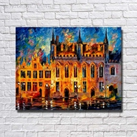 Castle Landscape Canvas on canvas painting art fabric painting designs scenery art