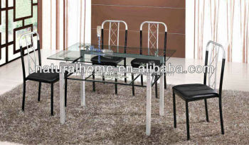 Diy modern glass dining table and chairs