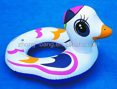 cheapest pvc inflatable floating duck for advertising (inflatable children swan model)