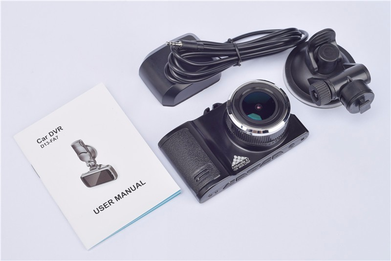 3.0 Inch 1296P Car Camera Ambarella A7LA50D Car Dashcam WDR HDR LDWS With GPS Speed Alarm