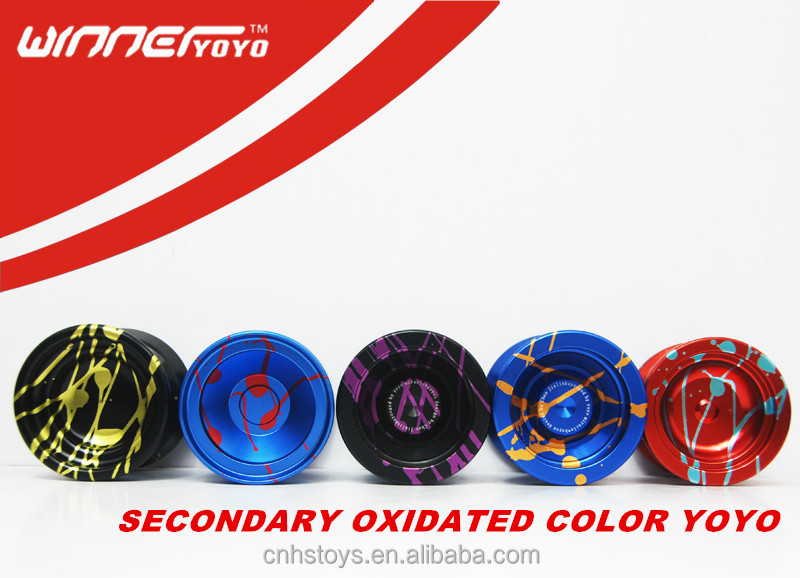 2014 hot selling sports toys aluminium yoyo OEM yoyo