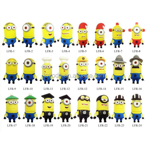 2014 newest Despicable Me Pen drive Minions character usb/wholesale buy usb flash drive/bluetooth usb flash drive