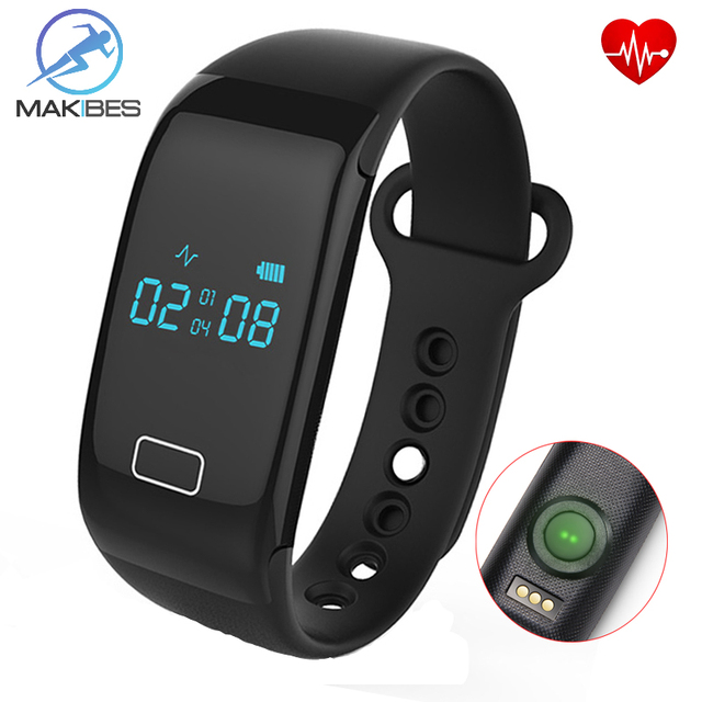 Makibes JW018 BT4.0 Smart band bracelet & Heart Rate Monitor Activity fitness Tracker Wristband for IOS & Android smartphone