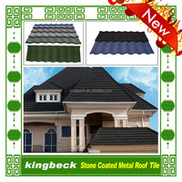 stone chips coated steel tile /shandong building material /metal roofing price