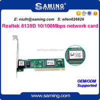 100Mbps Realtek rtl8139D PCI Ethernet network card/ lan adapter