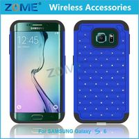 Beaded Cell Phone Covers For Samsung S6 Edge Mobile Phone Case Manufacturer