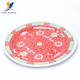 Factory customized 18 inch chinese style red dinner oval melamine plate