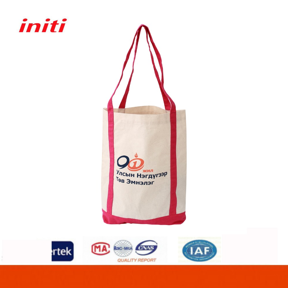 Wholesale reusable cheap canvas shopping bag