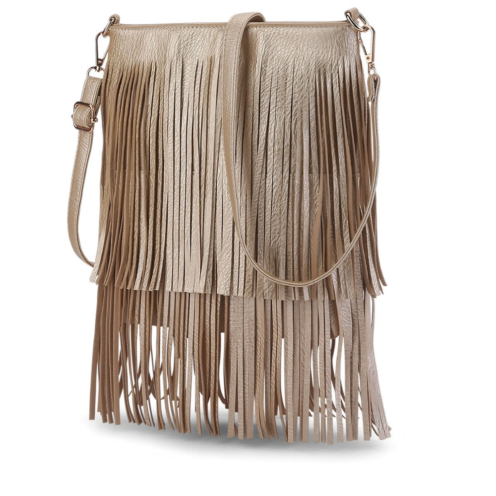 C74352A Fashion Vintage Cheap Leather Tassels Lady Handbag Sling Bags Women Hand bag