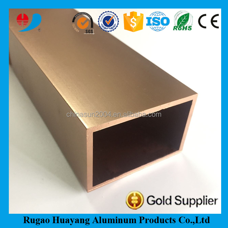 Anodized aluminum square tube 6061 6063 t6 t5
