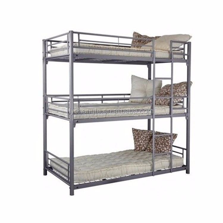 Luoyang Shangte 2017 new design metal 3 tier bed used 3 people