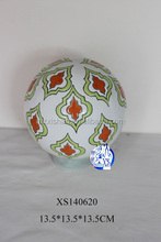 wholesale hand-painted decorative ceramic ball ornament