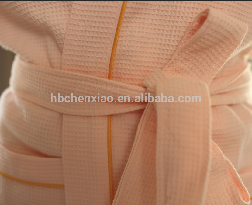 luxury organe 100% Cotton Waffle Hotel/spa/home Bathrobe