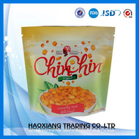 Food grade Fried chicken heat resistant plastic bag/stand up zipper bag