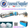 High speed facial tissue machine gluing cartoon box-pack production line