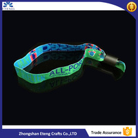 Best selling items cheap eco-friendly Polyester woven wristband, customized wristband
