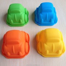 2017 New design cute car shaped silicone pudding mold, chocolate mould, cake model
