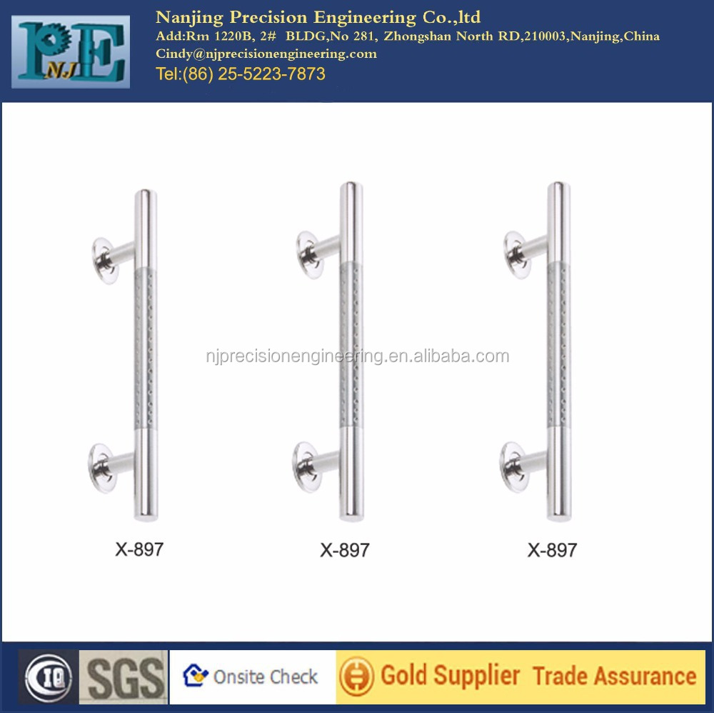 x-897 made in china standard stainless steel shining polish glass door <strong>handles</strong>