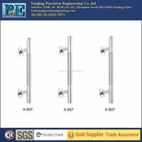 x-897 made in china standard stainless steel shining polish glass door handles