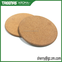 Wedding cork coasters custom/wholesale blank wood cork cup mat coaster