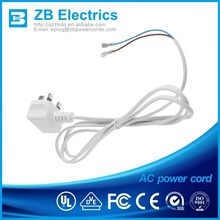 IEC C7 UK approved 3 pin power cords plug D09 rated 13A 125V power cords