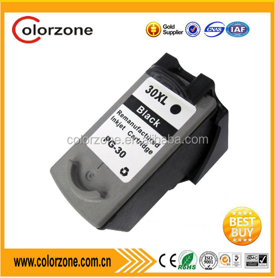 Compatible for Canon printer ink PG30 , Remanufactured PG 30 Ink Cartridge for Canon PG30 Ink Cartridge