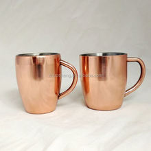 Copper vodka mug for moscow mule mug