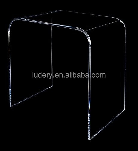 "Acrylic End Table 17 inches high x 17 wide, x 12 deep x 3/8"" thick material"