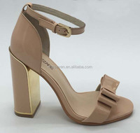 Pretty women high quality genius leather high heel bowtie sandal shoes