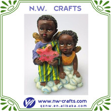 home decorative resin black children statues women figurines