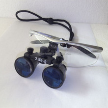 Dental surgical binocular loupes with LED light