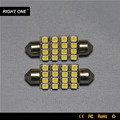12v car use 36mm 16 smd festoon bus led reading light