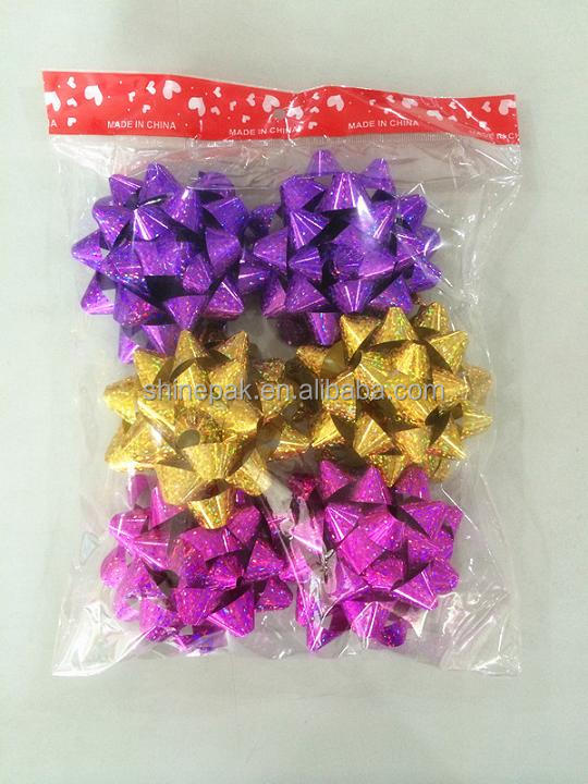 Warehouse Shinning Star Bow For Gift Packing