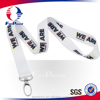 Promotion lanyard with heat transfer custom logo