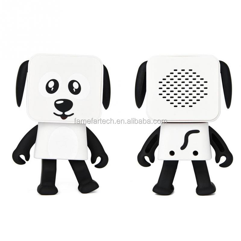 Intlmate Cute children toy dance dog speaker,wireless with 4 hour rechargeable battery life ,3W audio dancing robot speaker