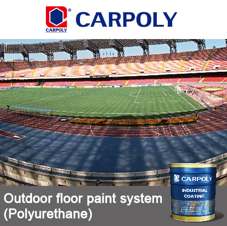 Carpoly Outdoor floor paint system, Polyurethane, floor paint, floor coating