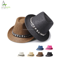 Fashion cheap wholesale men hats paper cowboy straw hats for promotion sun hat