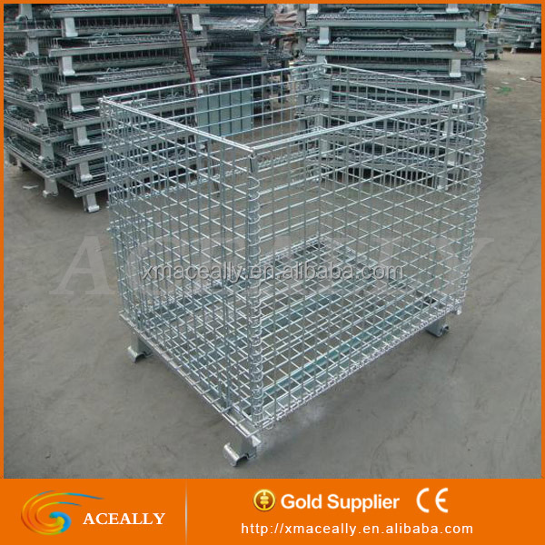 Foldable Steel Storage Cage, Stacking Tire Pallet / Tyre Crate