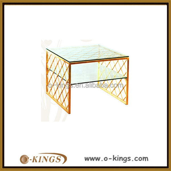 Custom glass modern lift top small coffee table for wedding/hotel/bar